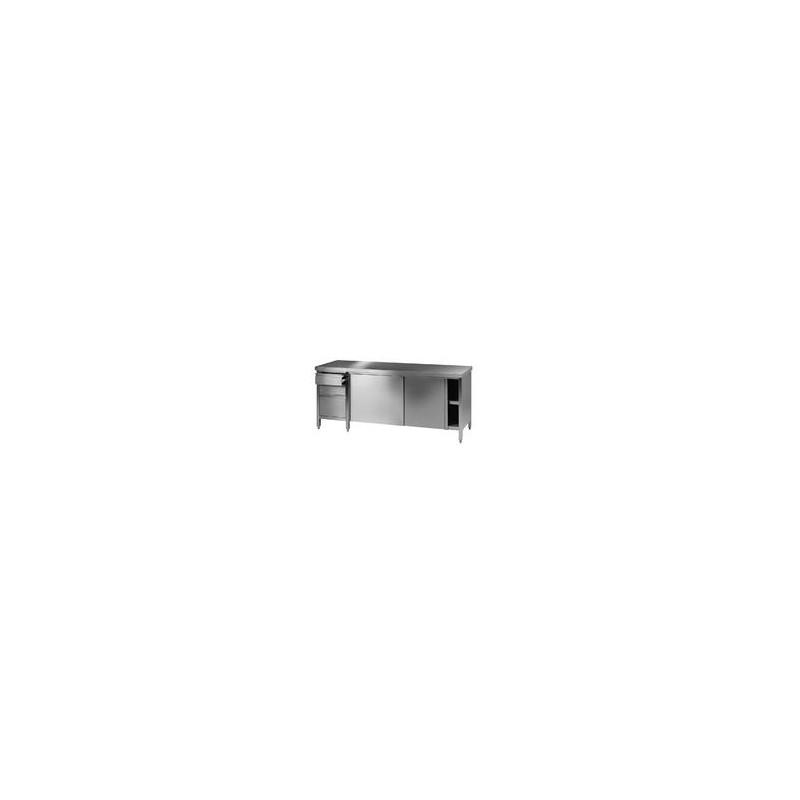 Labor Arbeitstisch 7 18/10 Stahl LxBxH 2500x750x900 mm Typ 2
