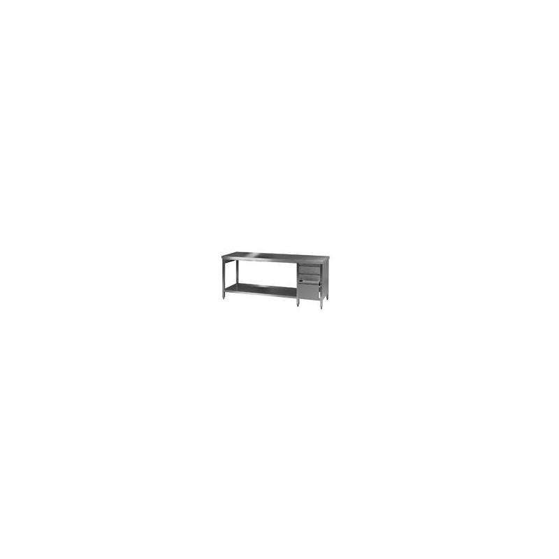 Labor Arbeitstisch 3 18/10 Stahl LxBxH 2500x750x750 mm Typ 2