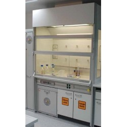 Low space fume cupboard Raster 1500 height 2405 working height