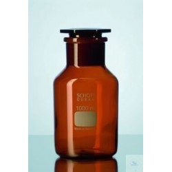 Reagent bottle 1000 ml wide neck Duran amber NS 60/46 with