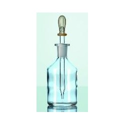 Dropping bottle 100 ml glass clear with pipette