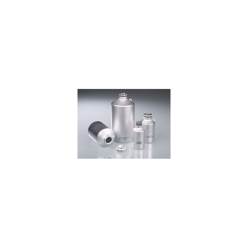 Aluminium bottle 1250 ml UN- approved with screw cap
