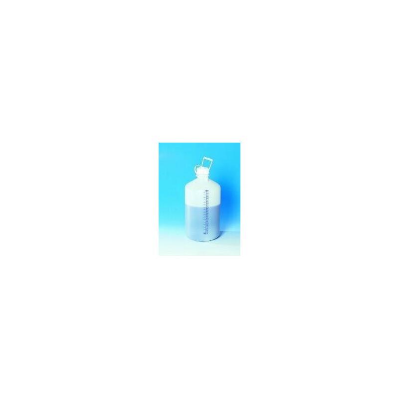 Vorratsflasche ohne Hahnanschluss HD-PE blaue Literskala