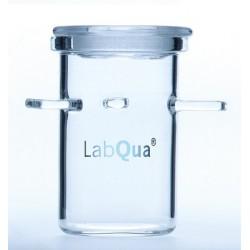Coking-Crucible Rademacher Ø 27 mm quartz glass with ground