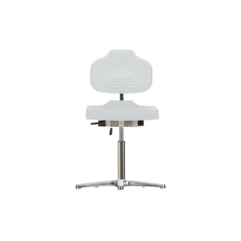 Work chair with glides for wet rooms WS 1410 GF seat/backrest